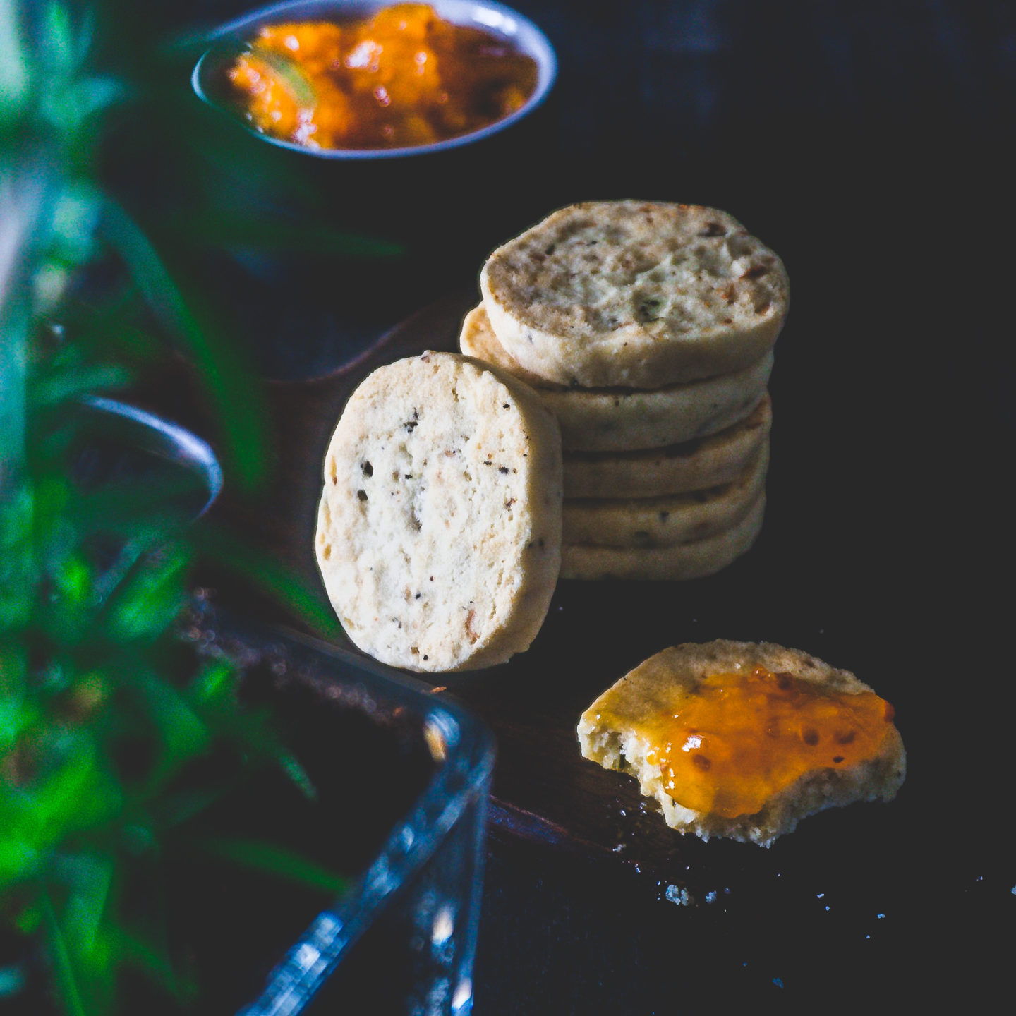 Savory biscuits with Stilton and rosemary